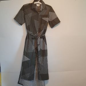 Dkny pure midi button down dress